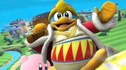 Rey Dedede y Kirby en la Isla de Pilotwings SSB4 (Wii U).jpg