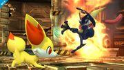 Fennekin atacando a Greninja SSB4 (Wii U).jpg