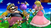 Peach y Wario en Zona Windy Hill SSB4 (Wii U).jpg