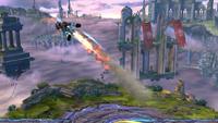 Un Tirador Mii utilizando Propulsión en Super Smash Bros. for Wii U.