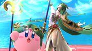 Kirby junto a Palutena en Pilotwings SSB4 (Wii U).jpg
