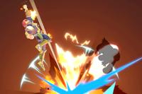 Vista previa de Propulsión Falcon en la sección de Técnicas de Super Smash Bros. Ultimate