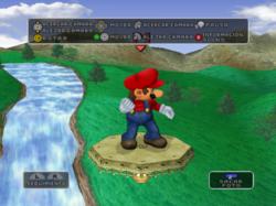 Cámara directamente cerca de Mario