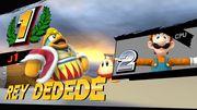 Luigi (en segundo puesto) bajo los efectos del glitch de la pose T en la pantalla de resultados.jpg