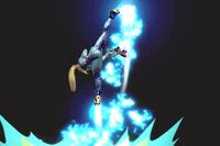 Vista previa de Patadas propulsoras en la sección de Técnicas de Super Smash Bros. Ultimate