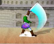 Ataque Smash hacia arriba de Link (1) SSBM.png