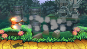Barriles retropropulsados (2) SSB4 (Wii U).png