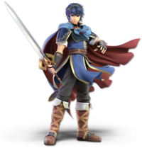 Art oficial de Marth en Super Smash Bros. Ultimate.