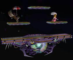 Vista del Campo de Batalla en Super Smash Bros. Melee