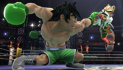 Giga Mac agarrando a Fox en el Ring de boxeo SSBWiiU.png