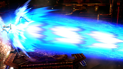 Samus usando el Láser Zero en Super Smash Bros. for Wii U