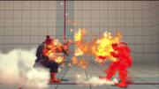 Akuma usando Shakunetsu Hadoken contra Ryu en Street Fighter IV.png