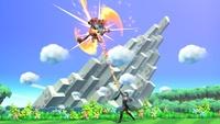 Byleth agarrando a Incineroar con el ataque en Super Smash Bros. Ultimate.