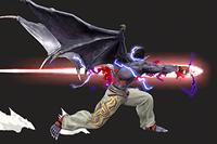 Vista previa de Devil Fist en la sección de Técnicas de Super Smash Bros. Ultimate
