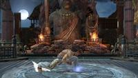 Kazuya usando Crouch Dash en Super Smash Bros. Ultimate