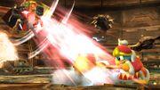 Rey Dedede, Toon Link y Marth en la Central Geotérmica SSB4 (Wii U).jpg