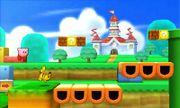 Kirby y Pikachu en Super Mario 3D Land SSB4 (3DS).jpg