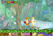 Kirby atacando con la Espada Master Kirby y el Laberinto de los Espejos.png
