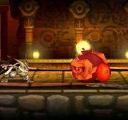 Greninja junto a Rodomba en Smashventura SSB4 (3DS).jpg