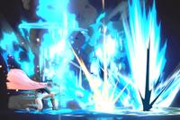 Vista previa de Erupción en la sección de Técnicas de Super Smash Bros. Ultimate