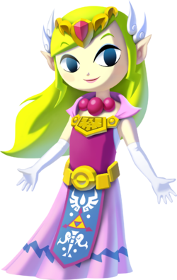 Art oficial de Toon Zelda de The Legend of Zelda: The Wind Waker HD.