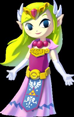 Art oficial de Toon Zelda de The Legend of Zelda: The Wind Waker HD.