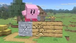 Kirby usando Crear bloque.