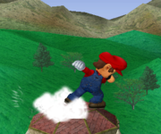 Ataque Smash hacia arriba de Mario SSBM.png