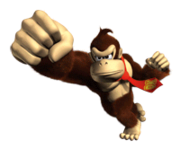 Pegatina de Donkey Kong en DK Jungle Beat SSBB.png