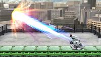 R.O.B. usando el Láser Robo completamente cargado en Super Smash Bros. para Wii U