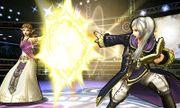 Daraen mujer y Zelda en el Cuadrilátero SSB4 (3DS).jpg