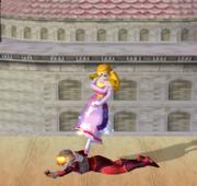 Lanzamiento hacia abajo de Zelda (1) SSBM.png