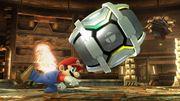 Mario lanzando un Barril SSB4 (Wii U).jpg