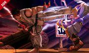 Ryu y Pit en el Castillo de Suzaku SSB4 (3DS).jpg