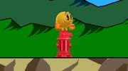 Pac-Man sobre una boca de riego SSB4 (Wii U).png