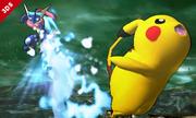 Greninja atacando a Pikachu SSB4 (3DS).png