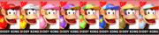 Paleta de colores de Diddy Kong SSB4 (3DS).png