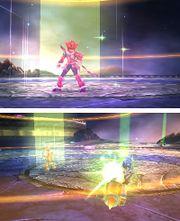 Un luchador usando el don Luz celestial en Kid Icarus Uprising.jpg