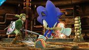 Sonic y Link en la Central Geotérmica SSB4 (Wii U).jpg