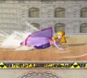 Ataque de recuperación de cara al suelo de Zelda (2) SSBM.png