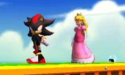 Shadow y Peach en 3D Land en SSB4(3DS).jpg