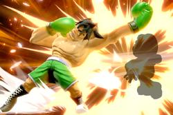 Vista previa de Asalto Giga Mac en la sección de Técnicas de Super Smash Bros. Ultimate