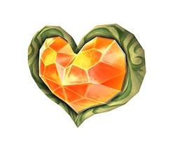 Art Oficial del Contenedor de Corazón en Super Smash Bros. Brawl