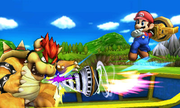 Mario atacando con un Brazal perforador SSB4 (3DS).png