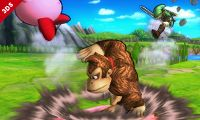 Donkey Kong usando Palmeo en Super Smash Bros. for Nintendo 3DS.