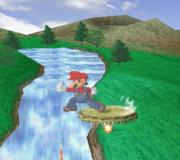 Ataque de recuperación de cara al suelo de Mario (1) SSBM.png