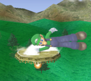 Ataque de recuperación de cara hacia arriba de Luigi (1) SSBM.png