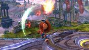Ataque fuerte hacia arriba Tirador Mii SSB4 Wii U.jpg