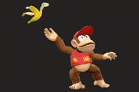 Vista previa de Cáscara de plátano/Monda de plátano en la sección de Técnicas de Super Smash Bros. Ultimate