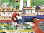 Ataque de recuperación al resbalar (1) Mario SSBB.jpg